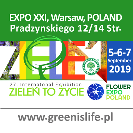 """ORGANIQ at """"Green is life 2019"""" exhibition in Warsaw, Poland."""